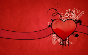 Abstract heart wallpaper by xcharmedfanx