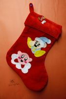 Kirby and Poppy Bros. Jr. Stocking by MeMiMouse