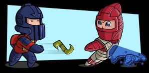VisionariesFans Chibi Jam - Lexor and Witterquick by warthogrampage