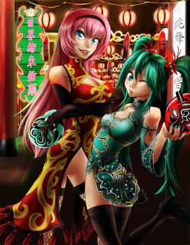 Vocaloid: Chinatown Babes by klinanime