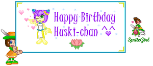 Happy Birthday Huski-chan by SpriteGirl