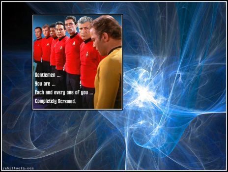 Redshirts Are Screwed Wallpaper by Rabittooth