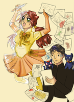 An advert for a learn to draw manga club thing 2 by scalogno