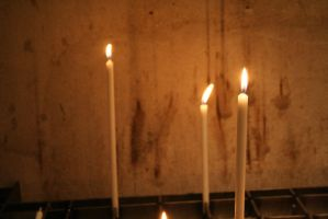 candles in church by ingeline-art