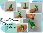 Green Marble Dragon Charm by MalaCembra