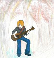 Playin' Guitar in the Woods by RyuzakiLivesOn