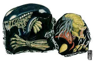 Alien and Predator by s7eventan