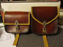 Custom Set of Link Bags by EarthlyLeatherDesign