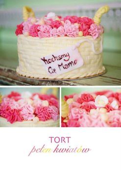 flowers cake by wigur