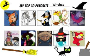 My Top Ten Witches by Austria-Man