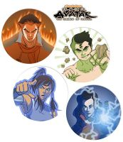 Legend of Korra button set by dzioo