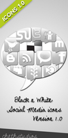 Black n white- Icon set by cheth