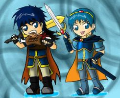 Marth and Ike by GladiatorBros by IkeFanatics