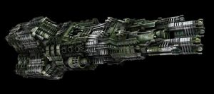 Complex Spaceship Colorized EX by eRe4s3r