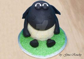 Timmy The Sheep Cake by ginas-cakes