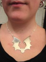 Batty Necklace by CthulhuMeow