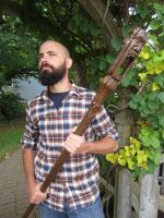 Wabbajack - hand carved wooden staff by alesthewoodcarver