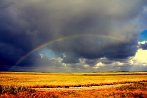 Harvest rainbow by JuliZib