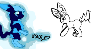 iScribble: Thunder FlashLight and Pikachu Oc by LPS100
