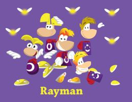 Rayman Bunch by gemstonelover49