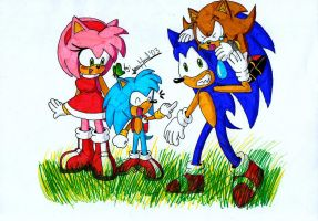 Sonic family by Max-Echidna-Bat