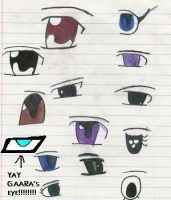 Anime eyes by darkGarra