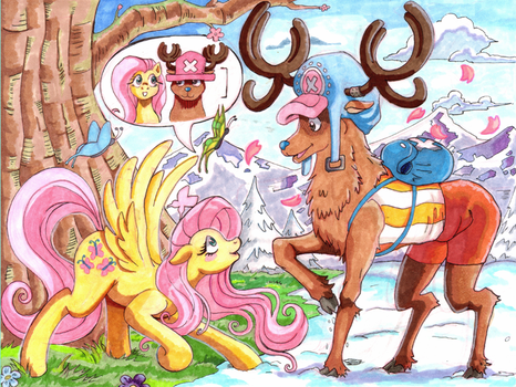 Nakama is Magic: Fluttershy and Chopper's Growth by Irie-mangastudios