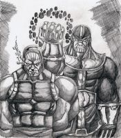 ..DARKSEID AND THANOS.. by fredvoorhees