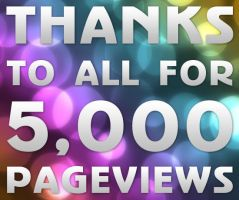 thanks to all for 5000 pgvw by bisiobisio