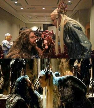 Thorin and Thranduil by my-savage-garden