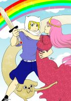 if Adventure Time were an anime by rain-and-sunshine