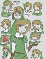 Twilight Link sketch doodles by MariaCool1234