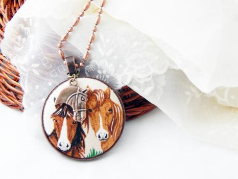 Horses Necklace by dotdonahue