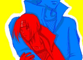 Red and Blue 2 by evillittlecherry