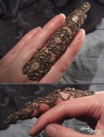 Steampunk armor ring by bodaszilvia
