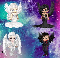 Angel Character Adopts (CLOSED) by Kikai-Kumo