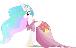 Celestia In Gala Dress by InfiniteWarlock