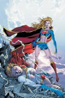 Supergirl vs Power Girl Original Image by tintallin