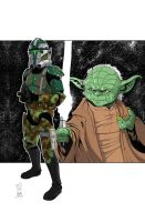 Commanders and Generals: Gree and Yoda Color by Hodges-Art