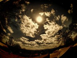 Zuiko Fisheye Sky Photo 1 by blackismyheart90