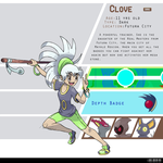 4th Gym Leader: Clove - Dark by LeafyHeart