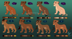 [Closed] Lion Cub Adoptables by Anyahs