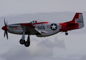 North American TF-51D Landing by shelbs2