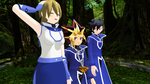 MMD Hanging out with the Obelisks by Eripmav-darkness