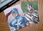 Captain America and Ultron PSC's by mechangel2002