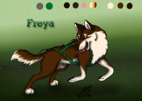 Freya - Sled Dog Character by WolfScribe