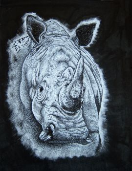 White Face Rhino With Jameson Logo Commission by xuriah