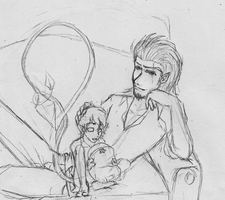 Father Like son :sketch: by ColorfulCandie