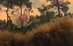Butterfree in a forest by Thunderwest
