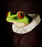 Frog Portrait by Sirmivorint